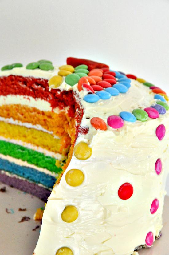 rainbow cake regenbogenkuchen rezept jolijou. Black Bedroom Furniture Sets. Home Design Ideas