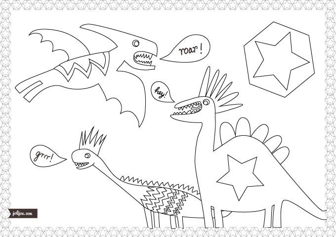 Dino Ausmalbild Malvorlage
